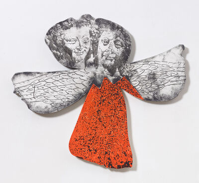 """Nate Lowman, '""""And The Angels Are Singing But Their Skirts Are On Fire"""" for E.S. 1', 2017"""