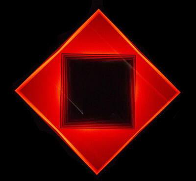 Kenneth Emig, 'Square in Diamond - Illuminated, symmetrical, geometric forms in glowing red', 2013