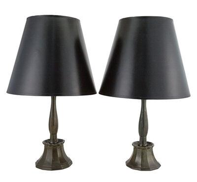 Just Andersen, 'Pair of Patinated-Metal Lamps', Circa 1940-9