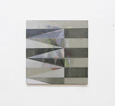 Irena Eden & Stijn Lernout, 'o.T. (320.331.14), acrylic, pencil & tape on cardboard on press board, 33,1 x 32 cm', 2014