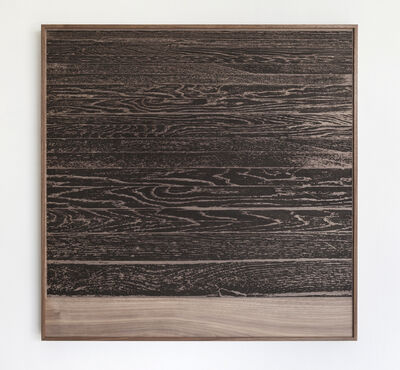 Analía Saban, ' Wooden Floor on Wood (Horizontal)', 2017