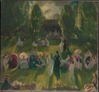 George Wesley Bellows, 'Tennis at Newport', 1919