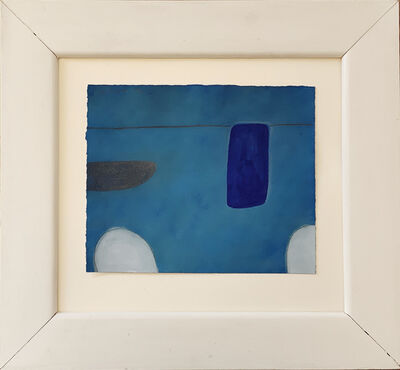 William Scott, 'Still Life Abstracted 1st Theme,  In Blue No XLVI/L', 1974