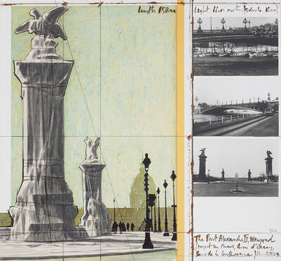 Christo and Jeanne-Claude, 'The Pont Alexandre III, Wrapped, Project for Paris', 1991