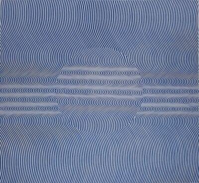 Fabián Burgos, 'Giro de 180° y azul sobre Michael Noll', 2014