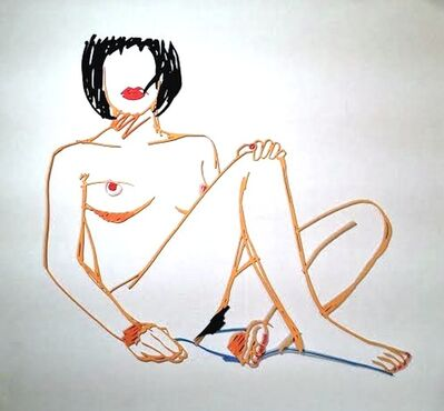 Tom Wesselmann, 'Steel Drawing-Sitting Nude', 1986