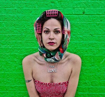 Ruben Natal-San Miguel, 'Jennifer (Unlock the Vixen), Green - Arthur Avenue, Bronx NY', 2019