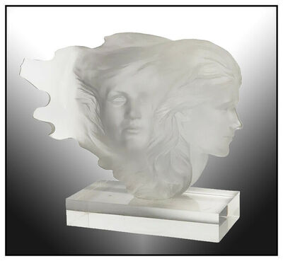 Frederick Hart, 'Frederick Hart Original Acrylic Sculpture Herself Signed Female Portrait Artwork', 1984