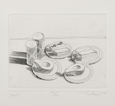 Wayne Thiebaud, 'Lunch, from Delights', 1964