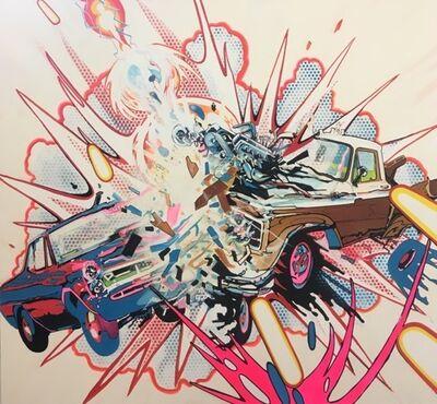 Joe Currie, 'Car & Truck Crashing with Random Cosmic Laser Beam', 2018