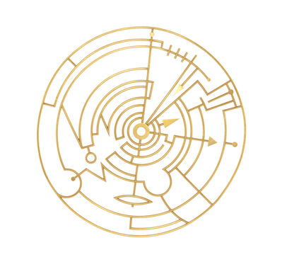Wendy Ramshaw, 'Plan in a Gold Circle Brooch'