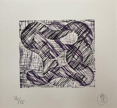 Richard Deacon, '1 + 1 = 10 Black/Purple', 2013