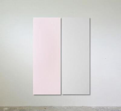 Sonia Costantini, 'Dittico. Rosa perla / grigio perla', 2017