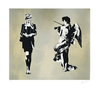 Blek le Rat, 'Diana And Angel', 2008