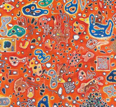 Gunter Damisch, 'Rotes Weltwegfensterfeld', 2013