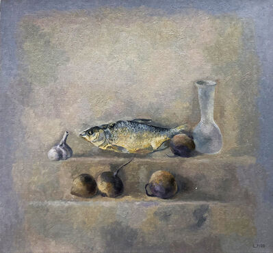 Lev Meshberg, 'Still Life with Fish, Beets, Garlic, and Antique Bottle', 2000