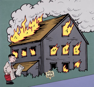 Nancy Chunn, 'Scene X Poortown, Detail: House on Fire', 2010-2011