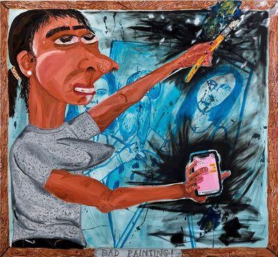 yoohee, 'fixing bad painting', 2018