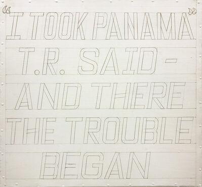José Castrellón, 'I took Panama', 2016