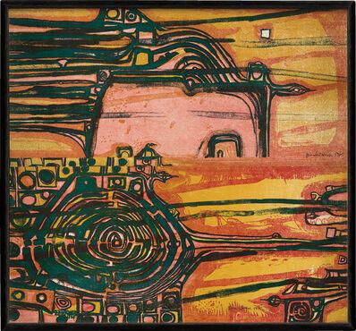 Friedensreich Hundertwasser, 'Die Flucht des Dalai Lama (The Flight of the Dalai Lama)', 1959