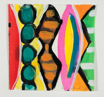 Kim MacConnel, 'Woman with Mirror. (Canvas #16)', 2007