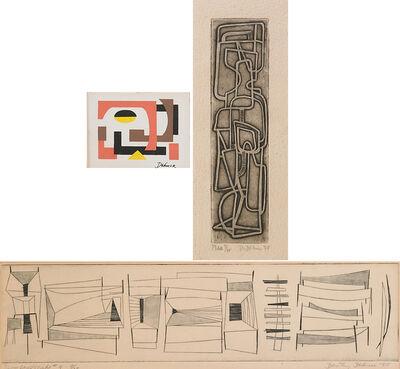 Dorothy Dehner, 'Three Works of Art: Untitled, Man, River Landscape #4'