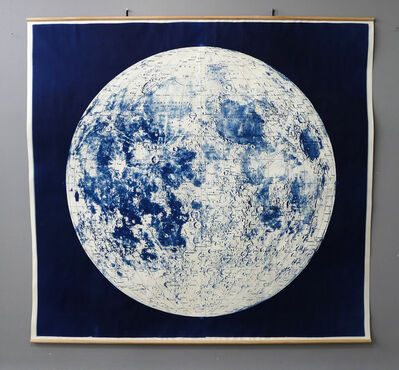 Mariano Chavez, 'Large Cyanotype Moon Map Linen Mounted', 2019