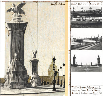 Christo, 'The Pont Alexandre III, Wrapped, Project for Paris', 1991