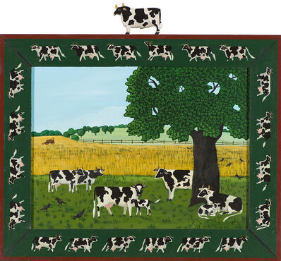 Barbara Chipman Moment, 'Wheres the Bull? One Cow Knows - Some Don't Care', 1989