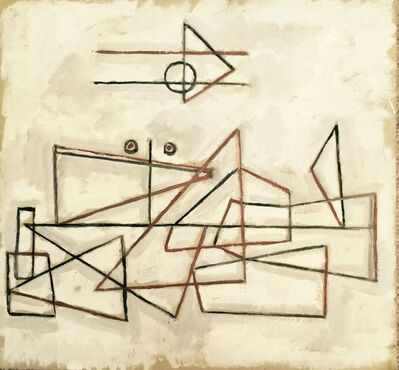 Augusto Torres, 'Geometrías en fondo blanco', 1934