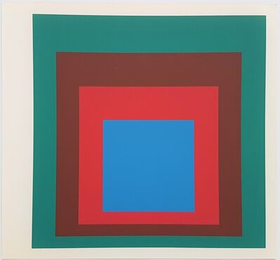 Josef Albers, 'Homage to the Square: Protected Blue', 1977