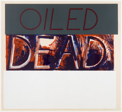 Bruce Nauman, 'Oiled Dead (State)', 1975