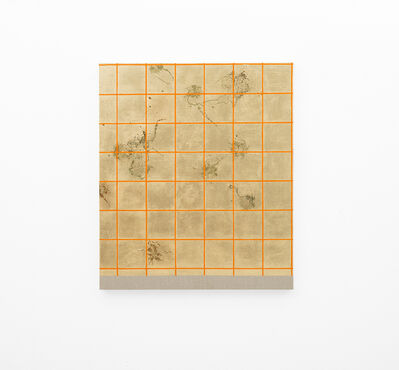 Pierre Vermeulen, 'Hair orchid sweat print, orange grid', 2018