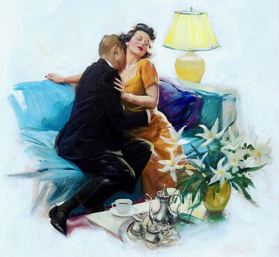 Harry Anderson, 'Love After Sunset, American Magazine, August 1942', 1942