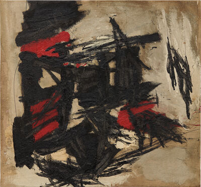 Peter Voulkos, 'Flying Red Through Black', circa 1959