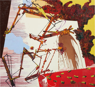 Fiona Rae, 'Untitled (yellow, red and brown)', 1993