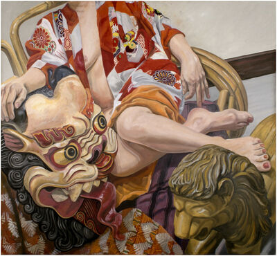 Philip Pearlstein, 'Model with Indonesian Mask', 2015