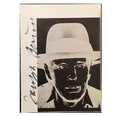 "Joseph Beuys, '""Joseph Beuys"", Signed by Beuys on Warhol Catalogue Page', ca. 1980"