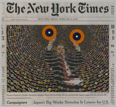 Fred Tomaselli, 'Friday, February 6, 2009', 2016