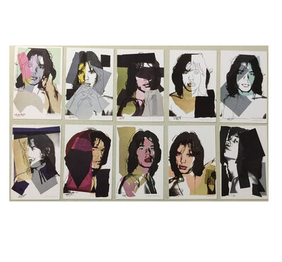 "Andy Warhol, '""JAGGER"", 10 -Promo Mini-Cards, 1975, Leo Castelli Graphics, MUSEUM QUALITY', 1975"