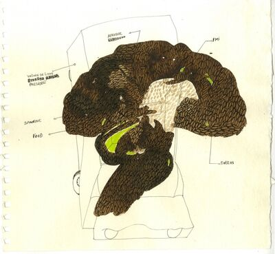 Omar Ba, 'A corriger (2)', 2009