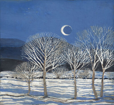 Gary Milek, 'Winter Night, Crescent Moon', 21st Century