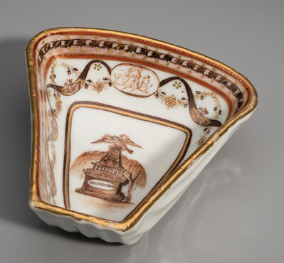 Unknown Maker, 'Shell Shaped Sweet Meat Dish from the George Washington Memorial Service', ca. 1800