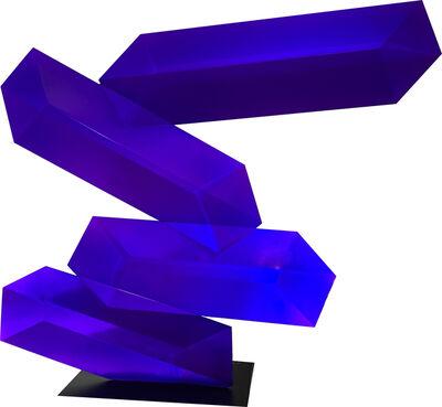 Rafael Barrios, 'Levitating Prisma Translucent Violet Purple', 2019