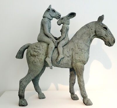 Sophie Ryder, 'Lovers on Horseback (Maquette)', 2013