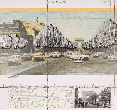 Christo and Jeanne-Claude, 'Wrapped Trees (Project for the Avenue des Champs-Elysées, Paris)', 1992