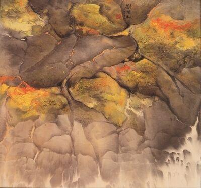 Liu Kuo-sung 刘国松, 'Seaside Mossy Stones海邊苔石', 1991