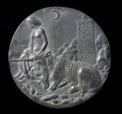 Pisanello, 'Innocence and Unicorn in a Moonlit Landscape [reverse]', 1447