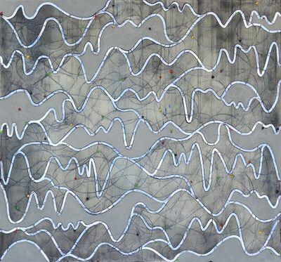 Petra Rös-Nickel, 'Waves Blue Grey', 2019