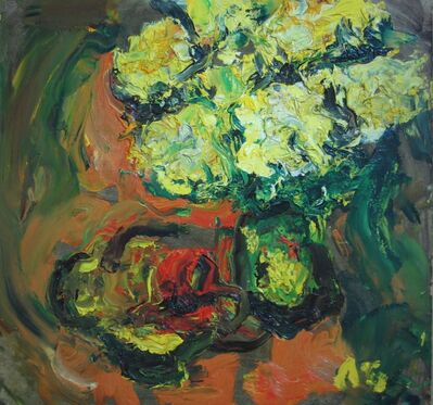 Aron Froimovich Bukh, 'Yellow flowers', 2002